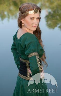 Robe tunique médiévale avec la ceinture « Princesse de la forêt » d'ArmStreet