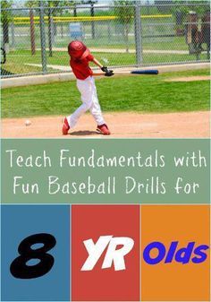 Teach Fundamentals with Fun Baseball Drills for 8 year olds The best baseball drills for 8 year olds can help kids develop their individual skills and teach them to play as a team. And these drills should be fun too. Play Baseball Games, Baseball Hitting Drills, Softball Drills, Baseball Tips, Softball Coach, Baseball Training, Baseball Quotes, Better Baseball, Baseball Mom