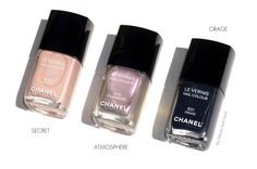 The Beauty Look Book: Chanel Secret #625, Atmosphère #629 and Orage #631 Le Vernis | Collection États Poétiques for Fall 2014