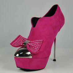 Lady Heels Gianmarco Lorenzi Chrome Heel Suede Pink Boots