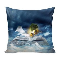 Book Travel Pillow Cover