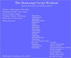 bootcamp-circuit-workout Good for cold/hot weather when stuck inside Circuit Training, Circuit Workouts, Body Workouts, Workout Ideas, Hiit, Bootcamp Ideas, Workout Body, Best Full Body Workout, Star Jumps