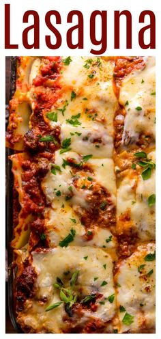 The Best Homemade Lasagna Recipe is cheesy, meaty, saucy, and SO delicious!!! And while this recipe requires a bit of work, it can be made ahead of time and stored in the fridge for up to 24 hours before baking. A hearty recipe that's perfect for feeding large groups! Homemade Lasagna Recipes, Best Pasta Recipes, Beef Recipes, Italian Recipes, Cooking Recipes, Italian Sausage Lasagna, Dinner Is Served, Weeknight Meals, Casserole Dishes