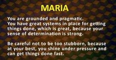 "The meaning of my name ""Maria"""
