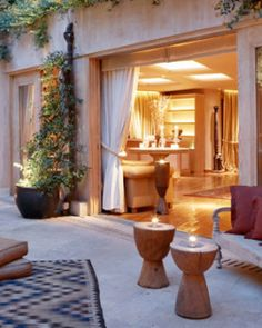 In the evening, the pool and patio area becomes a candlelit oasis for guests to enjoy. #Jetsetter