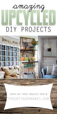 Amazing Upcycled DIY Projects - The Cottage Market #Upcycled, #Upcycling, #Upcycle, #UpcycledDIYProjects, #UpcyclingDIYProjects
