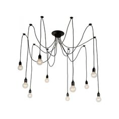 Offering artful allure, this item is a marked improvement for the entryway or for a spacious dining area. The fixture boasts beautiful iron construction with a matte black finish that complements virtually any design scheme. Exposed bulbs add drama and ample illumination.