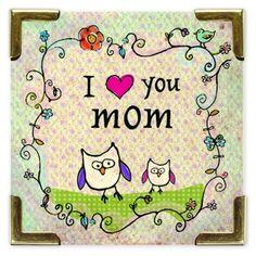 I (heart) You Mom Corner Magnet