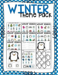 Perfect for your Winter Theme Unit! This pack includes:  (1) Set of BINGO Calling Cards (6) Winter Themed BINGO Cards (1) Tracing Worksheet (1) Sequencing Worksheet (2) Pages of Penguin Size Sequencing (1) Mitten Color & Trace Worksheet