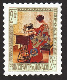 Monaco has long provided refuge to quilters and seamstresses persecuted in their own lands, and this 2-franc issue pays homage to this tradition.