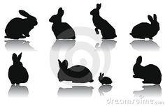 Silhuetas do coelho