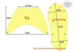 moldes para chinelos de quarto - Pesquisa Google