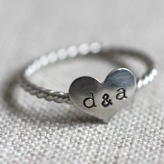 not that I'm anywhere near engaged /  marriage but I'd love this as a promise ring... it's so simply & unique
