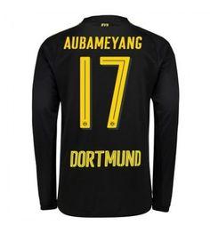 Billiga Dortmund Aubameyang 17 Bortatröja 17-18 Långärmad Sports, Tops, Fashion, Borussia Dortmund, Hs Sports, Moda, Fashion Styles, Sport, Fashion Illustrations