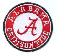 "3.5"" University of ALABAMA CRIMSON TIDE Round Team Logo Iron-on Jersey PATCH! | Sports Mem, Cards & Fan Shop, Fan Apparel & Souvenirs, College-NCAA | eBay!"