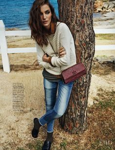 Mediterranean Character in Elle Spain with Zuzanna Bijoch wearing Tommy Hilfiger,Zara,Calzedonia - Fashion Editorial | Magazines | The FMD #lovefmd
