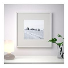 "IKEA - RIBBA, Frame, 19 ¾x19 ¾ "", , You can place the motif on the front or back of the extra deep frame.The mat enhances the picture and makes framing easy.The mat is acid-free and will not discolor the picture.Adapted in size to hang several together."