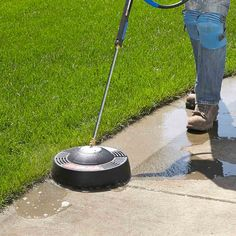 Pressure Washer Wonder - Any pressure washer can clean a hard surface like concrete, but it takes forever, and if you move the nozzle too fast or too slow, you wind up with streaks and striping. However, that is not the case with this whirlybird-style surface cleaner from Briggs