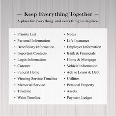 Organizing Paperwork, Binder Organization, Home Management Binder, Time Management, Life Insurance Beneficiary, Funeral Planning Checklist, Family Emergency Binder, Practicing Self Love, Last Will And Testament