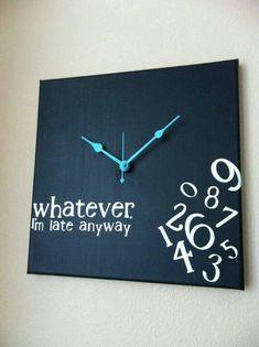 Clock with no numbers.  Scrapbook room