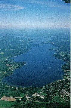 Arial View of Chautauqua Lake