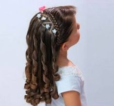 Female Women Hairstyles for Girls: Easy Fast and Beautiful 2019 20 Cute Little Girl Hairstyles, Flower Girl Hairstyles, Braided Hairstyles, Kid Hairstyles, Communion Hairstyles, Toddler Hair, Love Hair, Hair Dos, Hair Designs