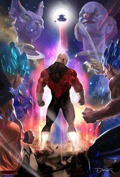 Goku and Vegeta vs Jiren the Grey