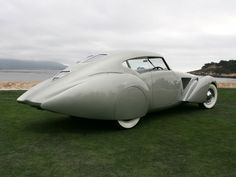 1937 Delage D8 120 S Pourtout Aero Coupe (tail) at the Pebble Beach Concours d'Elegance in California