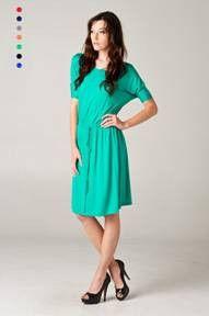 Boyfriend Midi Dress - Kelly Green