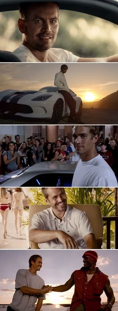 Beautiful tribute to the late, great Paul Walker #SeeYouAgain #Furious7