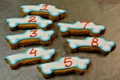 Racecar cookies. Perfect for birthdays. Just let us know the number. zoom zoom.