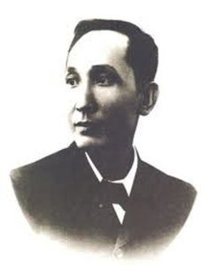 "Apolinario Mabini y Maranan (July 23, 1864 — May 13, 1903) was a Filipino political philosopher and revolutionary who served as its first prime minister until May 1899. In Philippine history texts, he is often referred to as ""the Sublime Paralytic"", and as ""the Brains of the Revolution."" To his enemies and detractors, he is referred to as the ""Dark Chamber of the President."""