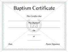 Baptism Certificate Templates  Certificate Template