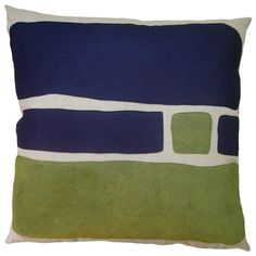 Big Block Pillow in Navy