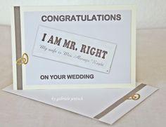 Karte Hochzeit Vermählung Wedding card von PHOTOGLÜCK auf DaWanda.com