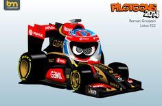 8_Romain_Grosjean Formula 1, Ferrari F1, Man United, F 1, Motogp, Nascar, Hot Wheels, Automobile, Racing