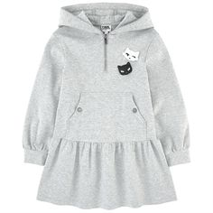 Karl Lagerfeld Kids - Choupette hooded dress - 157352 Pregnancy First, Pregnancy Trimesters Look Fashion, Kids Fashion, Karl Lagerfeld Kids, Kids Robes, Designer Baby Clothes, Hooded Dress, Little Girl Dresses, Baby Sewing, Maternity Fashion