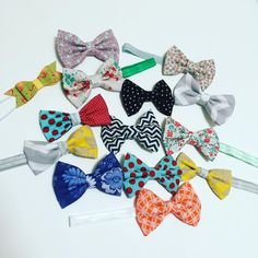 """Bows & Ties to Accessorize on Instagram: """"Bows for daysssss!!! Someone is sure gonna have fun wearing all these bows.  #hairbows #bows #headbands #elasticheadband #etsy #etsyfinds #handmade #babybows #JW #fallbows #gifts #giftsforher #fall"""""""