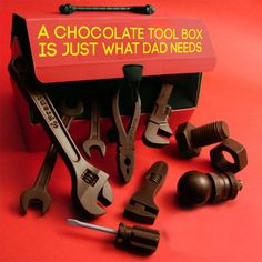 This Father's Day, instead of giving your dad tools or a box of chocolate, combine the two and gift him something he's never gotten for dad day — a chocolate toolbox! You heard that right.  2. Pour your chocolate mixture into your molds.