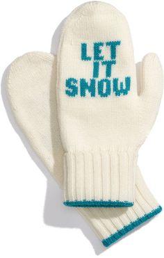 Let It Snow Mittens - Lyst