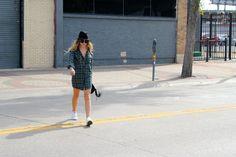 High End Hippie - Plaid Shirtdress & Converse