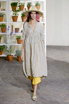 Daniela Gregis Spring 2013 So I guess the peasant look is hot for spring.... No thanks!