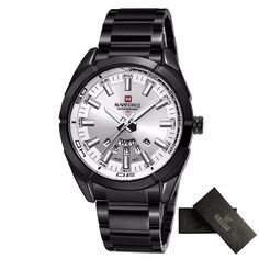 18408fbf236 masculino Picture - More Detailed Picture about NAVIFORCE Watch Mens Luxury  Brand Quartz Watch Men Waterproof Sport Watches Full steel Black  Wristwatches ...