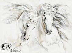 Toiles passées - past paintings — Elise Genest Horse Pencil Drawing, Horse Drawings, Animal Drawings, Art Drawings, Painted Horses, Horse Canvas Painting, Canvas Art, Clown Paintings, Horse Illustration