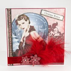 Handmade Card : This Christmas card has been made using the Art Deco Magical Christmas Cards CD by Debbi Moore