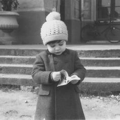 Vintage Photo of a Young Reader