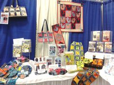 More of the Inventive Denim Booth...patterns and table runners and quilts!  Pleasanton, 2012 Www.InventiveDenim.com