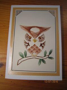 Pöllökortti (ohje netistä) ruskeilla silmillä.