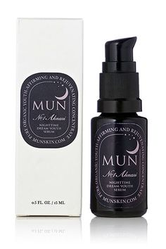 With Ecocert prickly pear seed and argan oil, this serum promises to plump, firm, and hydrate overnight for younger-looking skin. MUN Nighttime Dream Youth Serum, $95, available at MUN.