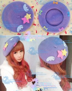 Fairy kei decoden style beret! Easy to DIY with some felt